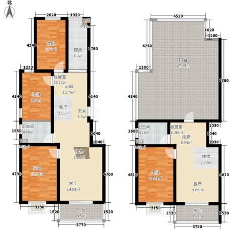 香木林4室0厅2卫1厨171.83㎡户型图