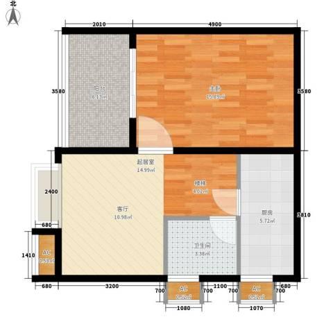E时代1室0厅1卫1厨65.00㎡户型图