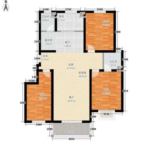 香木林3室0厅2卫1厨137.00㎡户型图