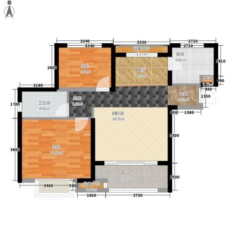 华润橡树湾2室0厅1卫1厨89.00㎡户型图