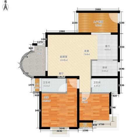 E时代2室0厅2卫1厨68.19㎡户型图