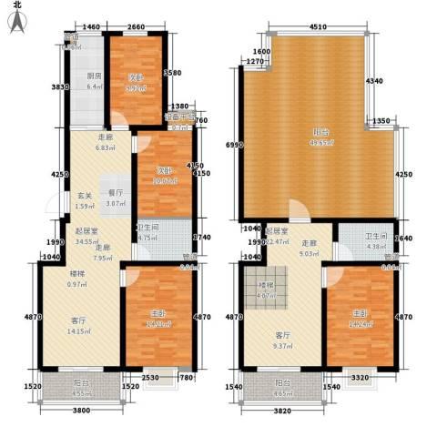 香木林4室0厅2卫1厨180.69㎡户型图