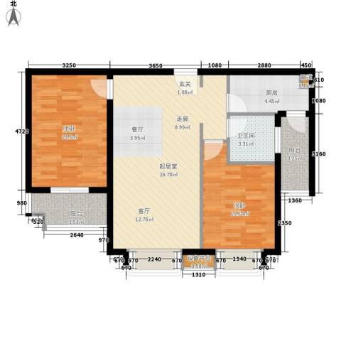 香木林2室0厅1卫1厨89.00㎡户型图