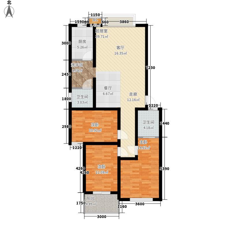金地华园117.98㎡A庆禧楼面积11798m户型