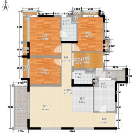 丰润阁3室0厅2卫1厨112.17㎡户型图