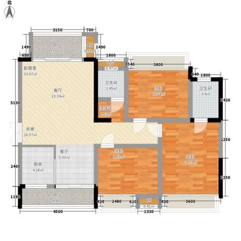 湖光山色3室0厅2卫1厨127.00㎡户型图