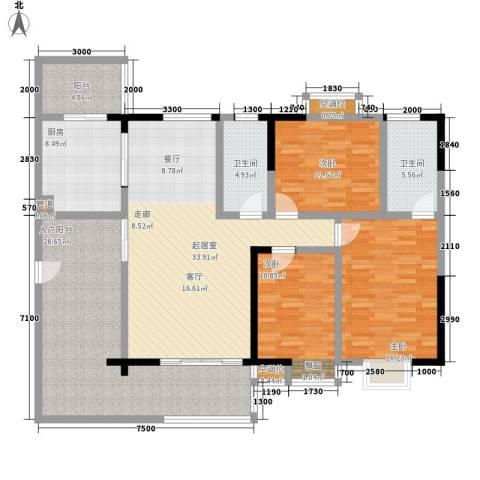 清溪商会大厦3室0厅2卫1厨170.00㎡户型图