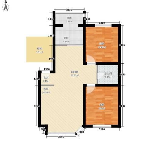 钻石山庄一期2室1厅1卫0厨70.00㎡户型图