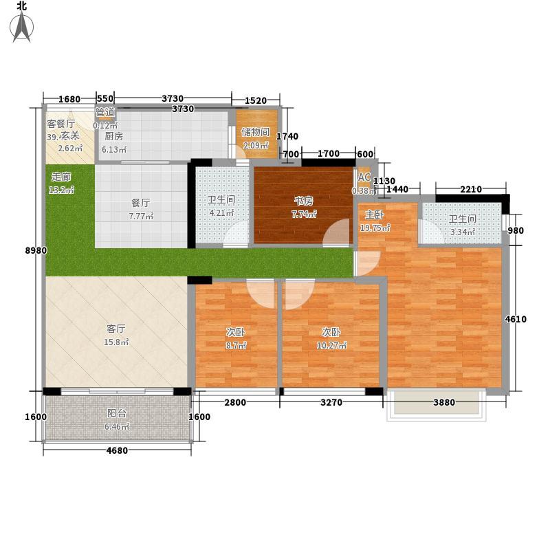 东汇城04大公寓-水牌48x30cm户型