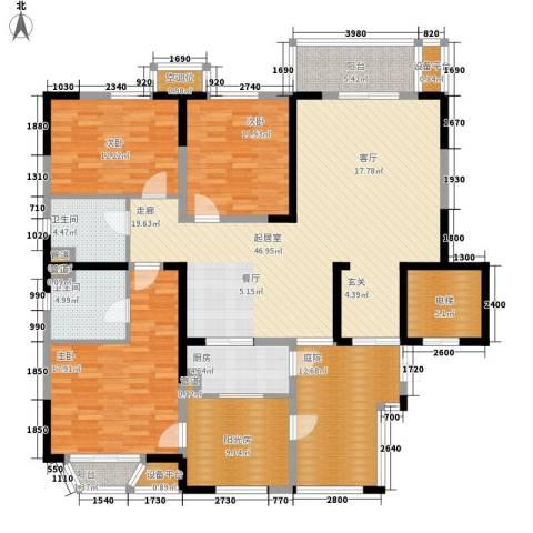 帝景豪庭3室0厅2卫1厨178.00㎡户型图