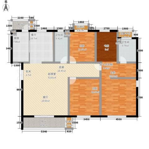 帝景豪庭3室0厅2卫1厨183.00㎡户型图