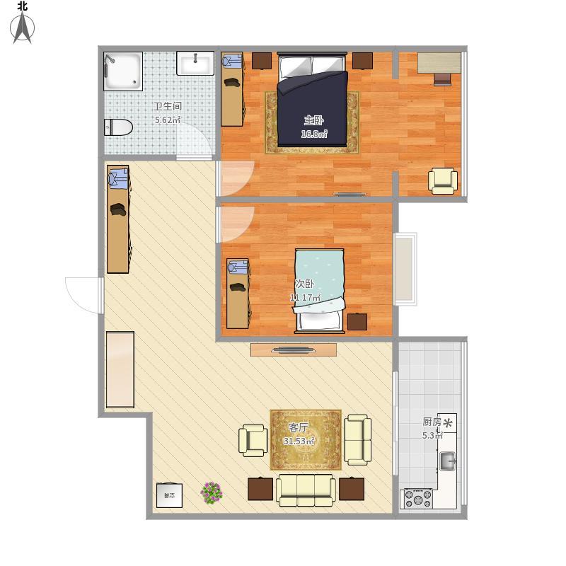 幸福东郡3号楼6号房户型设计