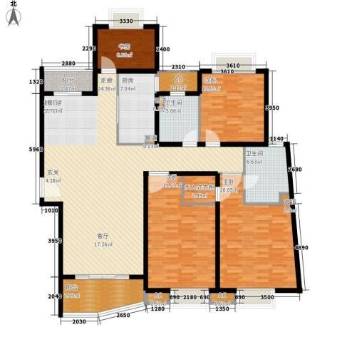 中远两湾城四期4室0厅2卫1厨208.00㎡户型图