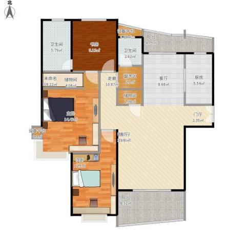 静安丽舍二期2室1厅2卫1厨149.00㎡户型图