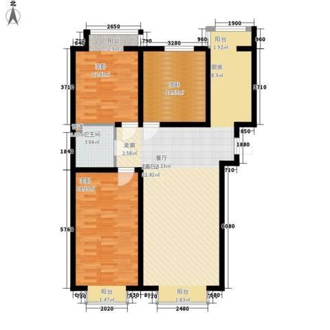盛唐府邸3室0厅1卫0厨124.00㎡户型图