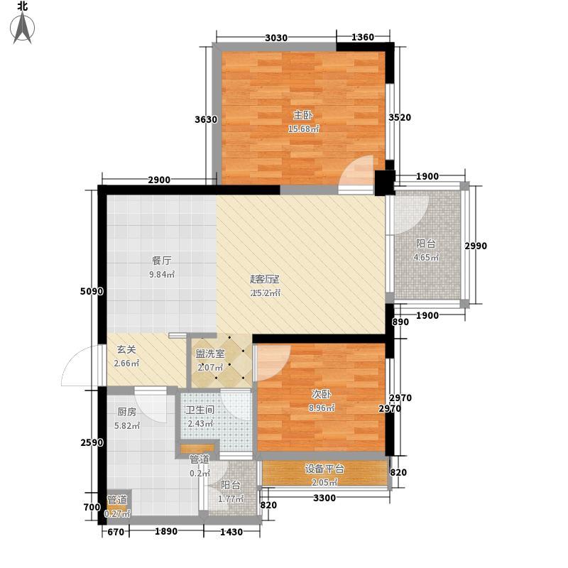 万科金域华府80.00㎡5#、7#楼02、05单元-2211-802室户型