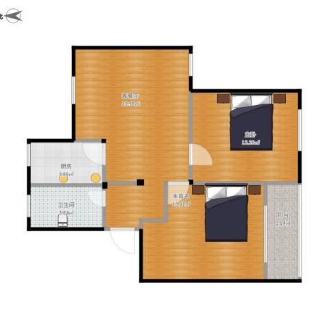 南苑一村1室1厅1卫1厨79.00㎡户型图