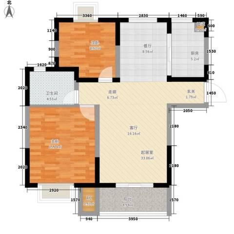 香港花园2室0厅1卫1厨84.00㎡户型图