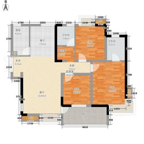 世纪城龙佑苑3室0厅2卫1厨138.00㎡户型图