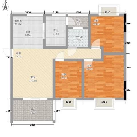 华懋上域3室0厅1卫1厨113.00㎡户型图