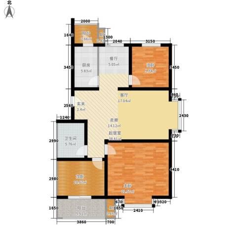 欢乐嘉庭3室0厅1卫1厨143.00㎡户型图