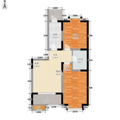 欢乐嘉庭2室0厅1卫1厨99.00㎡户型图