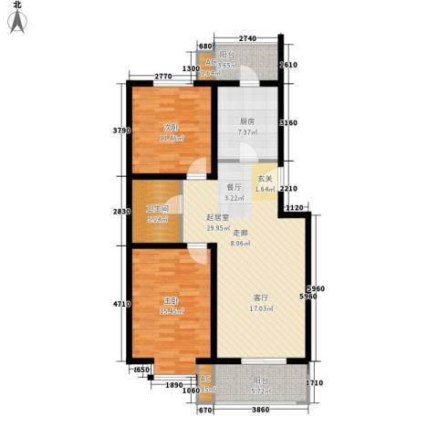 欢乐嘉庭2室0厅1卫1厨114.00㎡户型图