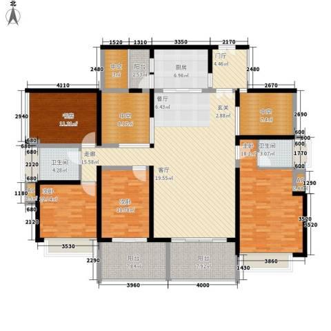 贝迪新城4室0厅2卫1厨143.00㎡户型图