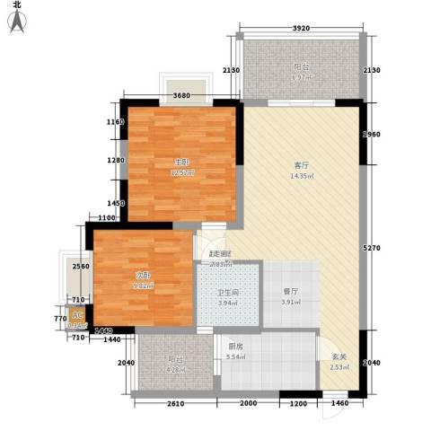 华懋上域2室0厅1卫1厨103.00㎡户型图