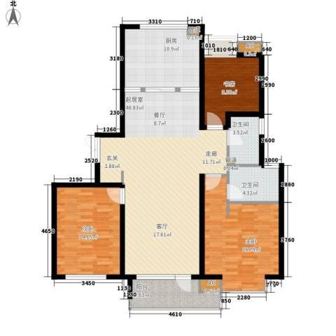 富力城3室0厅2卫1厨139.00㎡户型图