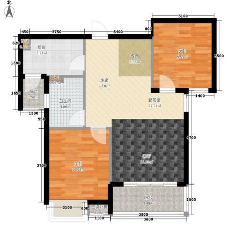 金泰华城2室0厅1卫1厨90.00㎡户型图