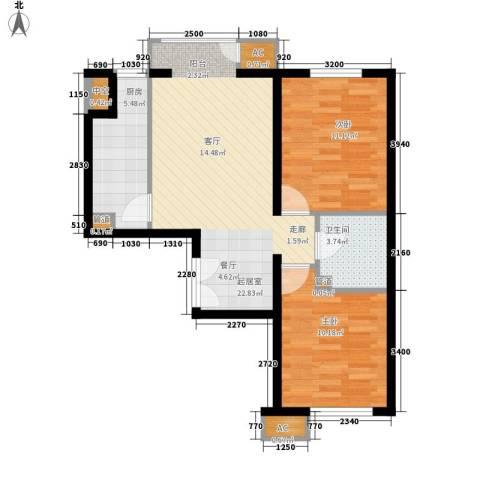 九鼎家园2室0厅1卫1厨80.00㎡户型图