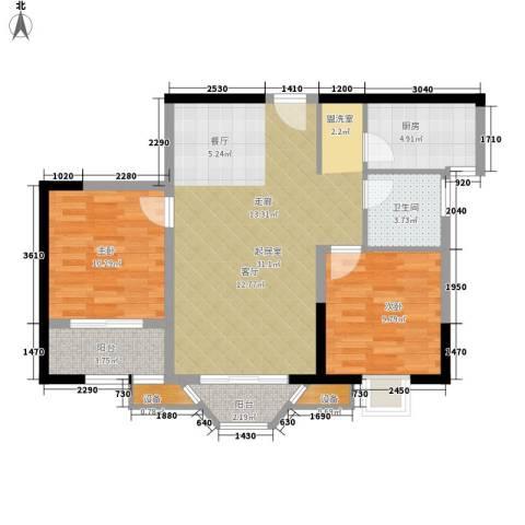 四方嘉丽2室0厅1卫1厨88.00㎡户型图