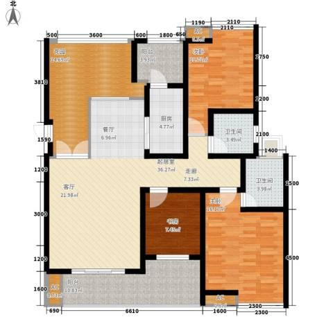 朵力尚美国际3室0厅2卫1厨115.12㎡户型图