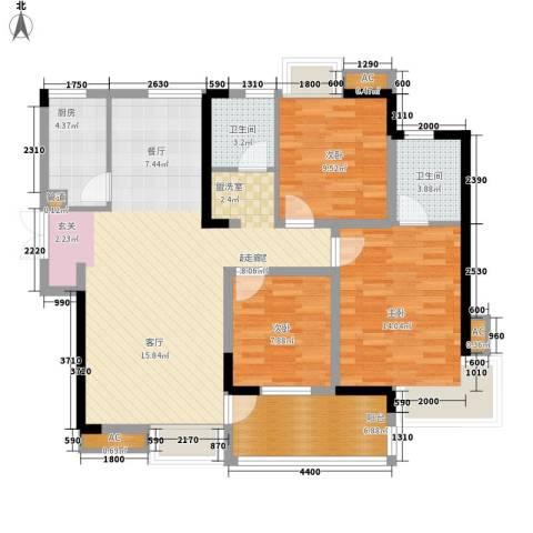 世纪城龙佑苑3室0厅2卫1厨135.00㎡户型图