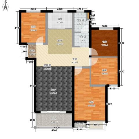 金泰华城4室0厅1卫1厨127.00㎡户型图
