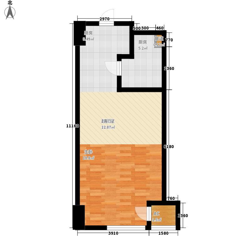 诺德广场53.00㎡J户型1室1厅
