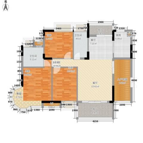 金茂伊顿公馆3室0厅2卫1厨119.00㎡户型图