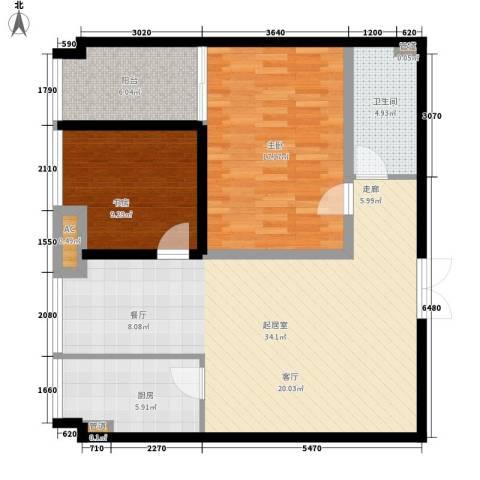 象牙宫寓2室0厅1卫1厨89.00㎡户型图