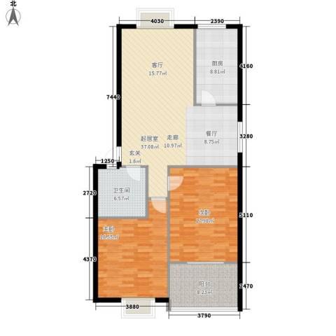 彩石文明花园小区2室0厅1卫1厨104.00㎡户型图