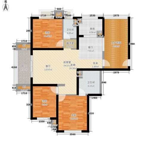 大华阳光曼哈顿3室0厅2卫1厨141.00㎡户型图