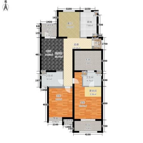 开元翡翠湾2室0厅2卫1厨167.00㎡户型图