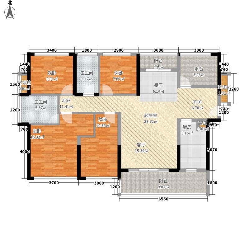 振业天峦144.00㎡2期8栋AC户型4室2厅