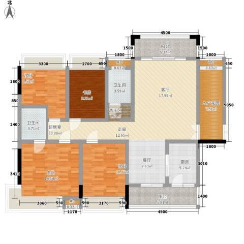 湖光山色4室0厅2卫1厨169.00㎡户型图