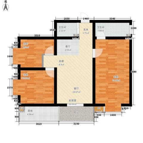 榕青无界3室0厅2卫1厨112.00㎡户型图