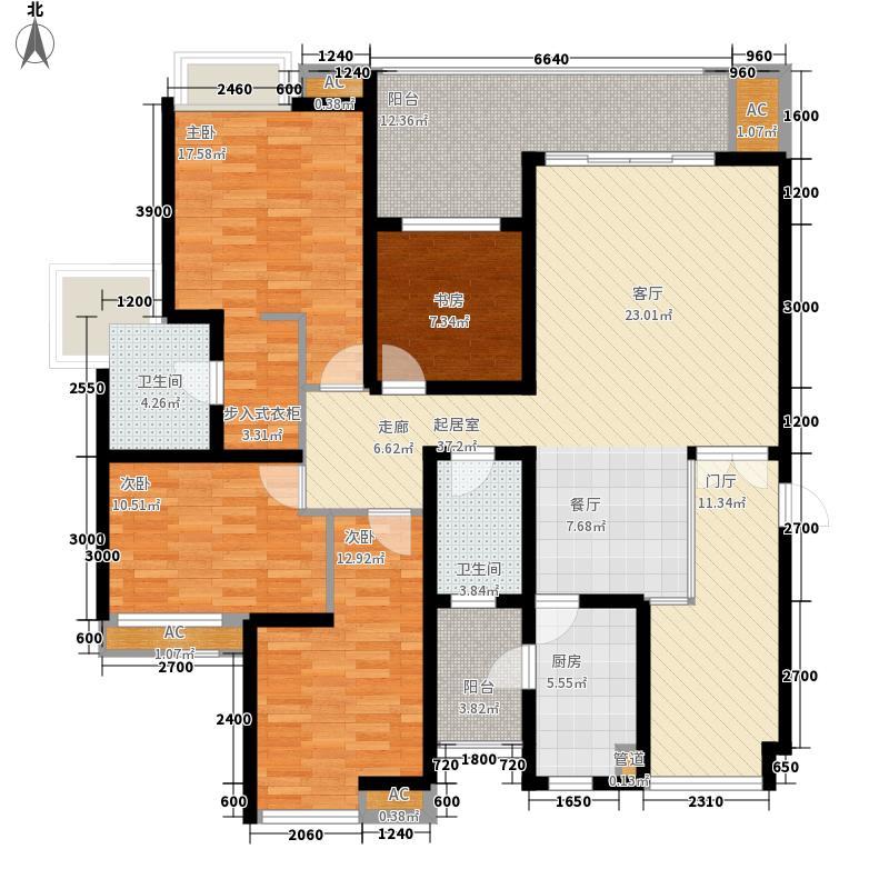 朵力尚美国际128.47㎡5号楼B面积12847m户型