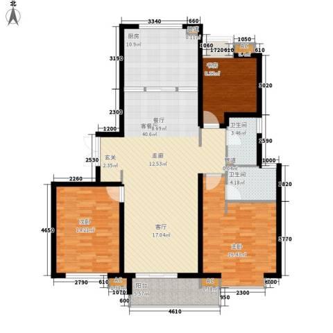 富力城3室1厅2卫1厨139.00㎡户型图
