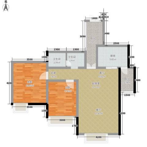 华章名府2室0厅1卫1厨101.00㎡户型图