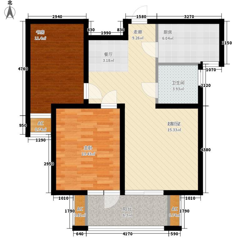 胶南清华园胶南・清华园G1-G3号楼高层C2户型