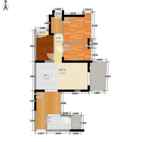 广州雅居乐花园一尺山居3室0厅1卫1厨78.00㎡户型图